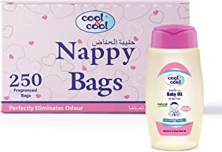 Cool & Cool Nappy Bags 250's and Baby Oil 100ml