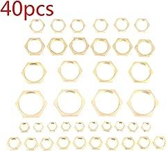 ALONGB Cabezal de accionamiento Hexagonal Tuerca para Muebles Tuercas de Alambre de aleaci/ón de Zinc Tipo Tornillo de Cabeza roscada para Kit de Surtido de Insertos de Madera