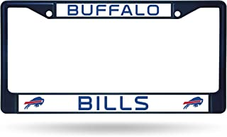 Rico Industries NFL Buffalo Bills Colored Chrome Plate Frame, Navy