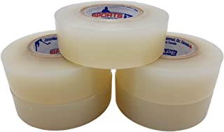 Clear Hockey Tape. Shin Pad Sock Tape, Rips Easily, 5 Pack. SportsTape - Made in North America.