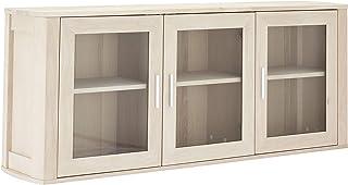 Ibbe Design Furniture Armario de Pared Madera Acabado en Aceite Blanco L150x B34x H60 cm