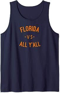 Florida VS All YALL T-shirt Represent Gator State Tank Top
