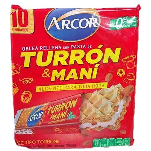 Arcor Turron & Mani 10 Wafers!