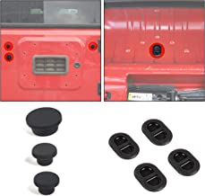 JeCar Tailgate Plugs Floor Drain Plugs Durable Rubber Plugs Set for 2007-2018 Jeep Wrangler JK JKU, Black