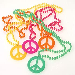 US Toy Peace Sign Necklaces Costume (2-Pack)