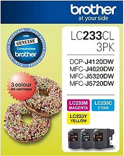 Brother LC-233CL Genuine (3-Pack) Colour Bundle [C/M/Y] Ink Cartridges