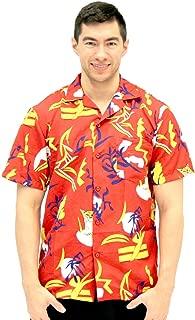 Scarface Tony Montana Hawaiian Adult Costume Button Up Shirt