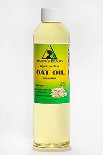 Oat Bran Oil Organic Cold Pressed Premium Natural 100% Pure 8 oz