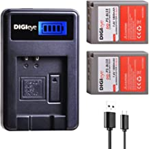 PS-BLS5 Replacement Battery (2-Pack) & LCD Charger Compatible for Olympus BLS-5, BLS-50, PS-BLS5 and Olympus OM-D E-M10, Pen E-PL2, E-PL5, E-PL6, E-PL7, E-PM2, Stylus 1