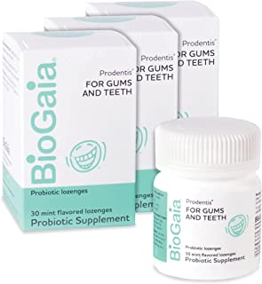 BioGaia Prodentis Mint Lozenges, Probiotic for Daily Oral Health, Promotes Heathy Teeth and Gums, Fights Bad Breath, Alcoh...