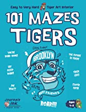 Tiger Maze Book for Kids Ages 4-8: 101 Puzzle Pages. Custom Art Interior. Cute fun gift! SUPER KIDZ. Blue Smile.