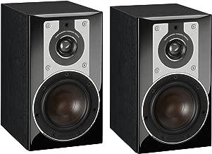 Dali Opticon 1 2-Way Compact Bookshelf Speakers (Pair, Black Ash)
