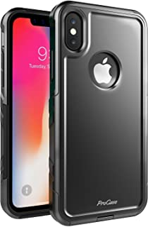 iPhone Xs Case/iPhone X Case, ProCase Slim Hybrid Protective Cover Shockproof Bumper Case for 5.8 inch Apple iPhone Xs (2018) / iPhone X (2017) –Black