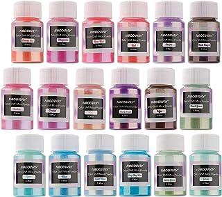 NODDWAY Metallic Color Shift Pigment Powder 18 Colors Pearl Fine Mica Powder, Epoxy Resin Dye for Resin Jewelry Art, Tumbl...