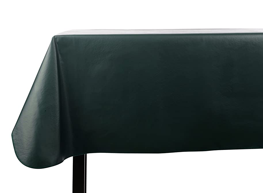 Yourtablecloth Heavy Duty Vinyl Rectangle or Square Tablecloth – 6 Gauge Heavy Duty Tablecloth – Flannel Backed – Wipeable Tablecloth with Vivid Colors & Many Sizes 60 x 120 Hunter Green