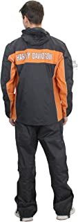 Mens Generations Reflective Waterproof Black Rain Suit...