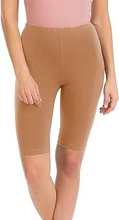 NANAVA Women's Premium Cotton High Waist Active Leggings Bermuda Shorts