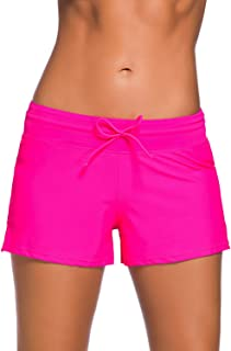 Aleumdr Women's Waistband Swimsuit Bottom Boy Shorts Swimming Panty