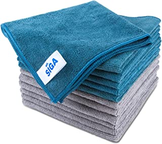 MR. SIGA Microfiber Cleaning Cloth, Pack of 12, Size: 15.7
