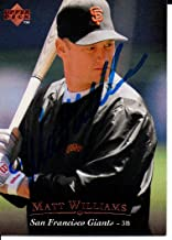Matt Williams San Francisco Giants 1995 Upper Deck Signed Card