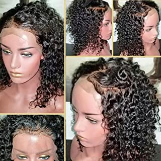 360 lace frontal wig Brazilian Human Hair 180% Density 360 lace wig for for Black Women Pre Plucked Natural Hairline with Baby Hair 14Inch Free Part