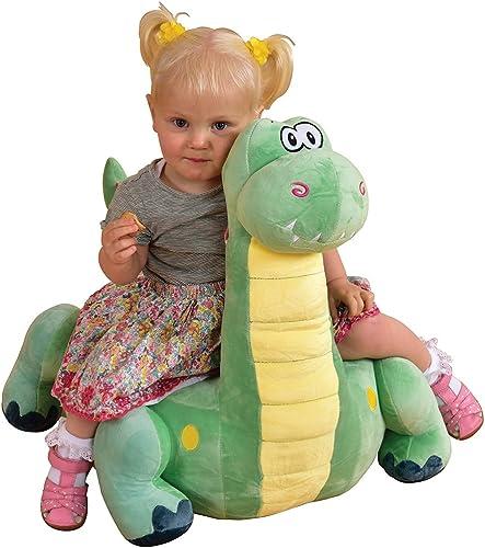 LibertyHouseToys Plüsch Dinosaurier Tier Rutscher Sitz, Stoff, Grün