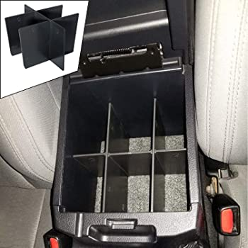 JDMCAR Center Console Organizer Insert Dividers Compatible with Toyota Tacoma 2016 2017 2018 2019 2020 Accessories, Armrest Box Secondary Storage