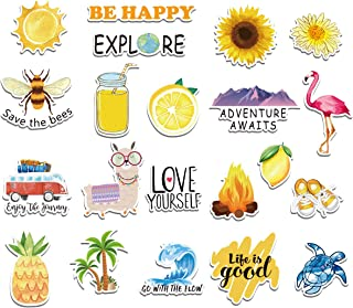 Cute VSCO Stickers by PGK - Cool Vinyl Sticker Designs for Your Water Bottle, Laptop Computer, Hydro Flasks and VSCO Stuff - 21 Pack, Reusable, Waterproof
