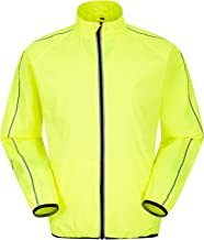 Mountain Warehouse Force Mens Water-Resistant Running Jacket - Highly Reflective Rain Jacket, Mesh Panels, Zipped Pockets Raincoat, Scooped Back - Best for Outdoors