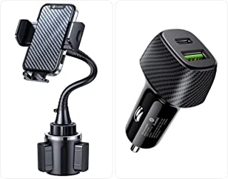 [Newest Pro Version] Andobil Cup Holder Phone Mount[Thick & Flexible Gooseneck] Universal Cup Phone Holder for Car & Car Charger 20W PD & 18W QC 3.0