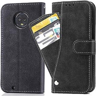 Moto G6 ケース 手帳型,カバー Case 手帳 PUレザー 財布型 サイドマグネット式 カードホルター付き収納スタンド機能 全面保護 Motorola G6ケース G6ケース手帳型 G6ケース手帳 モトローラ G6 モトローラg6 ブラック
