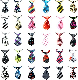 Small Dog Ties Pet Ties-Including 30 Pcs Different Styles Victorshunshun tfd001 2019 New Design for Dogs Cats and Any Small Pet Beautiful Ties for Cats and Dogs
