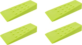 Redneck Convent Spiked Tree Felling Wedges for Tree Cutting – 5.5in Green Plastic Felling Wedge, Logging Tools – 4 Pack