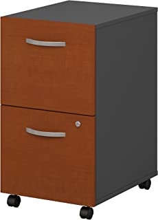 Series C 2 Drawer Mobile File Cabinet in Auburn Maple