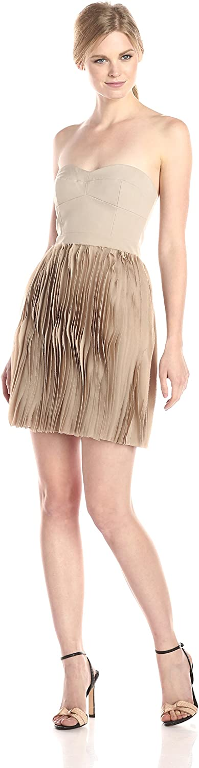BCBGMax Azria Women's Angel The Strapless Pleated Skirt Dress