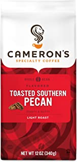 Cameron's Coffee Roasted Whole Bean Coffee, Flavored, Toasted Southern Pecan, 12 Ounce (Pack of 3)