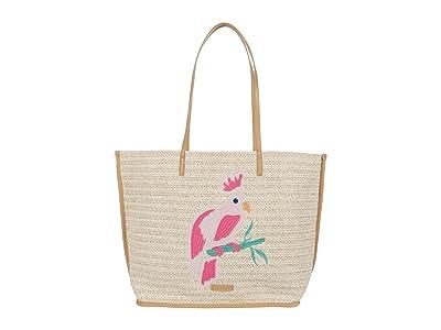 Vera Bradley Straw Tote (Light Natural Straw) Handbags