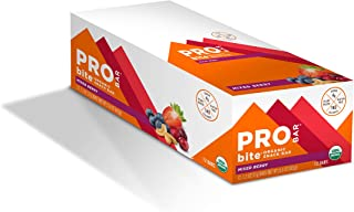 PROBAR - bite Organic Energy Bar, Mixed Berry, Non-GMO, Gluten-Free, USDA Certified Organic, Healthy, Plant-Based Whole Fo...