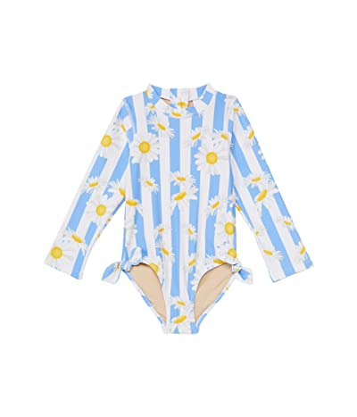 shade critters Long Sleeve One-Piece Daisy Stripe (Infant/Toddler) (Blue) Girl