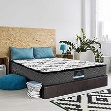 Giselle Bedding Queen Mattress 24cm Pocket Spring Foam Pillowtop Mattress
