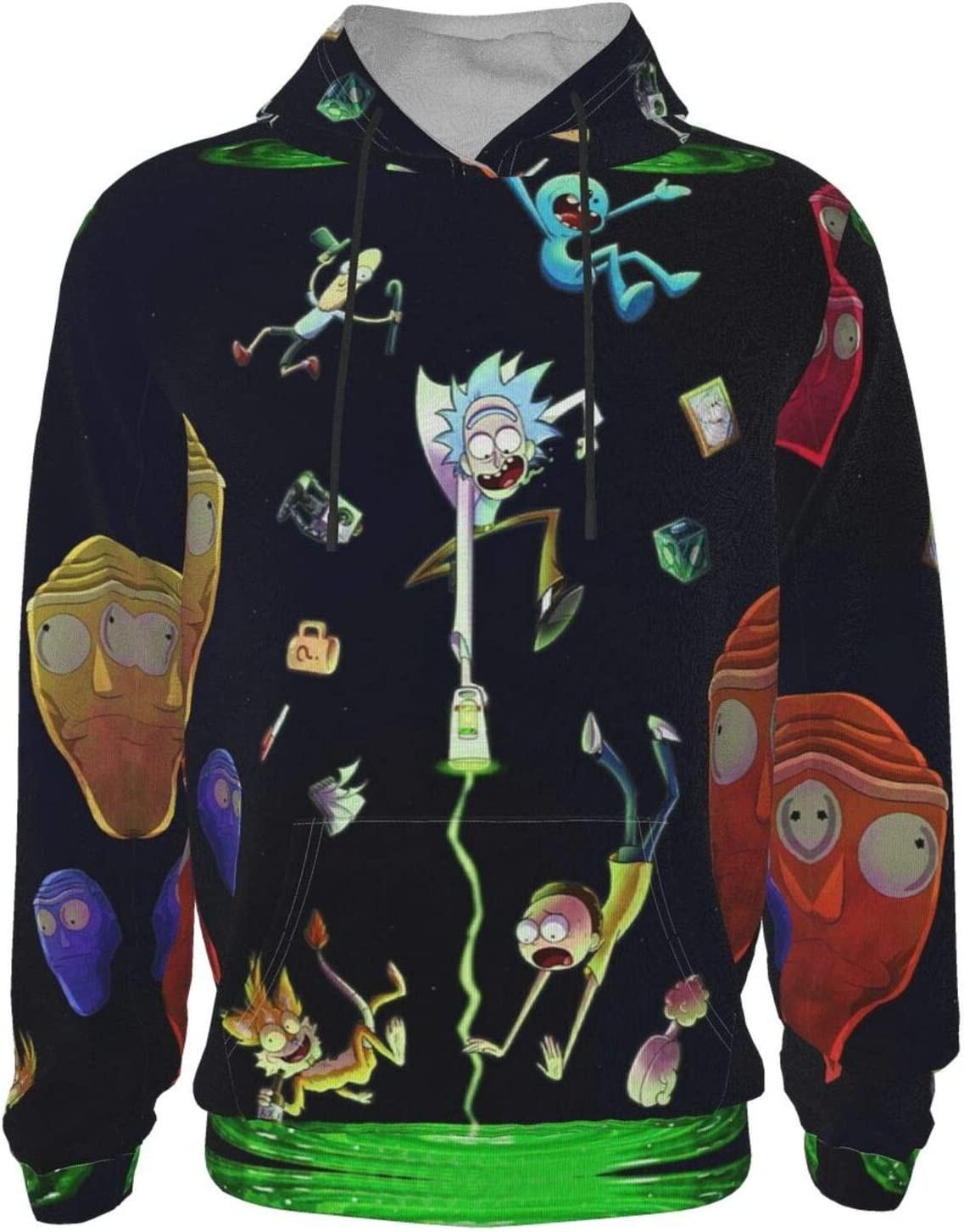 Unisex Teen Boys Kids Thick Rick-Morty Hoodies Winter Jacket with Pocket Hooded Sweatshirts for Boys,Girls 7-8 Years