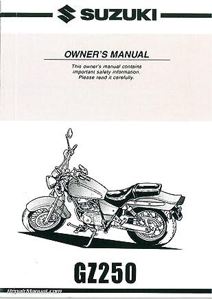 99011-13F57-03A 2002-2006 Suzuki GZ250 Marauder Motorcycle Owners Manual