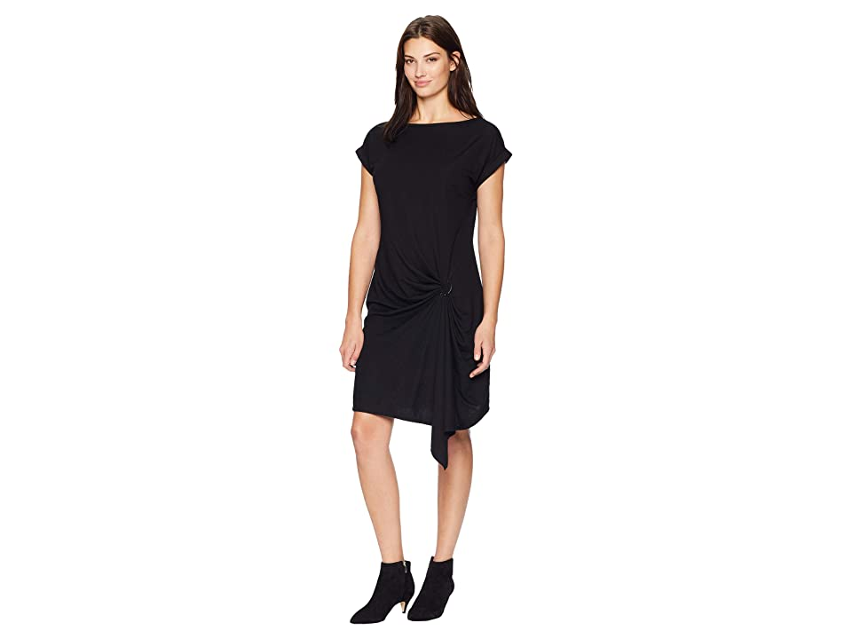 Kenneth Cole New York Gathered Front Detail Dress (Black) Women