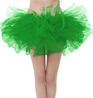 GirstunmBrand Damen 50er Mini Tüll Tutu Puffy Ballett Bubble Rock