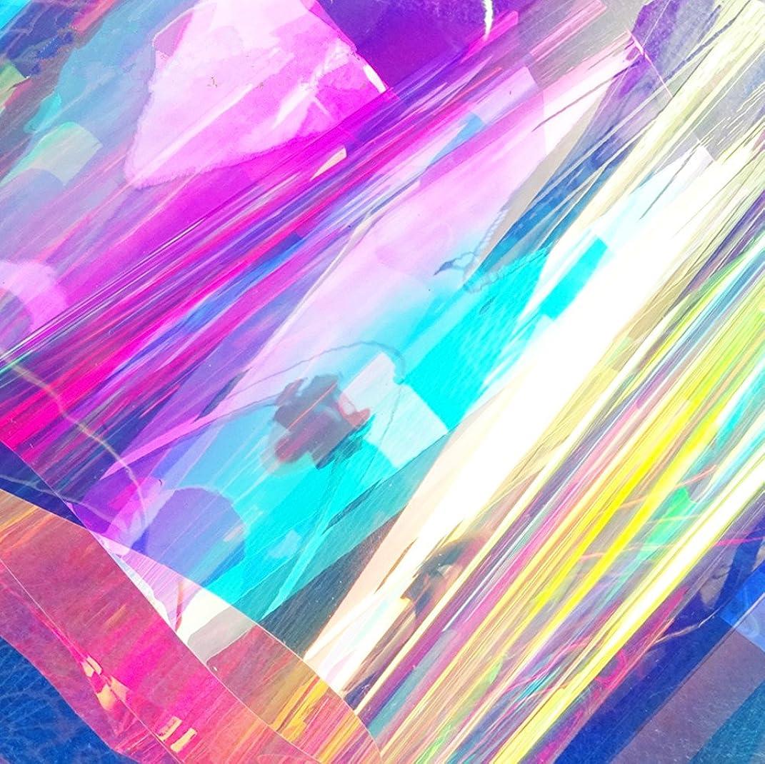 Moyishi 17.7''x39.3'' Glossy Laser Rainbow Peel and Stick Adhesive Wraps Art Decorations DIY