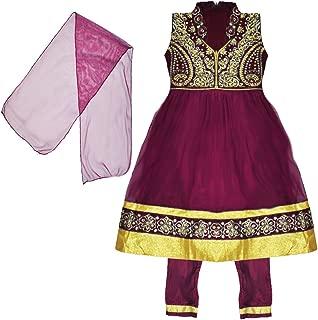 Zaffron Little Girls' Designer Salwar Kameez Indian Party 3 Piece Dress Set Clothing 2 to 4 Years