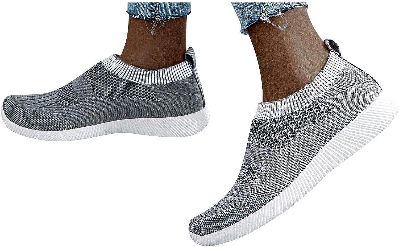 Women's Sneakers Stylish Woven Mesh Breathable Sneaker Lightweig