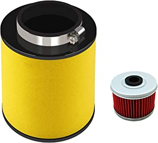 17254-HP5-600 Air Filter for Honda Rancher TRX420, TRX420FA, TRX420FE, TRX420FM, TRX420TE, 2007-2014 with Oil Filter Replacement ATV Element Air Filter