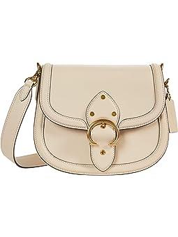 COACH Glovetanned Leather Beat Saddle Bag,B4/Ivory