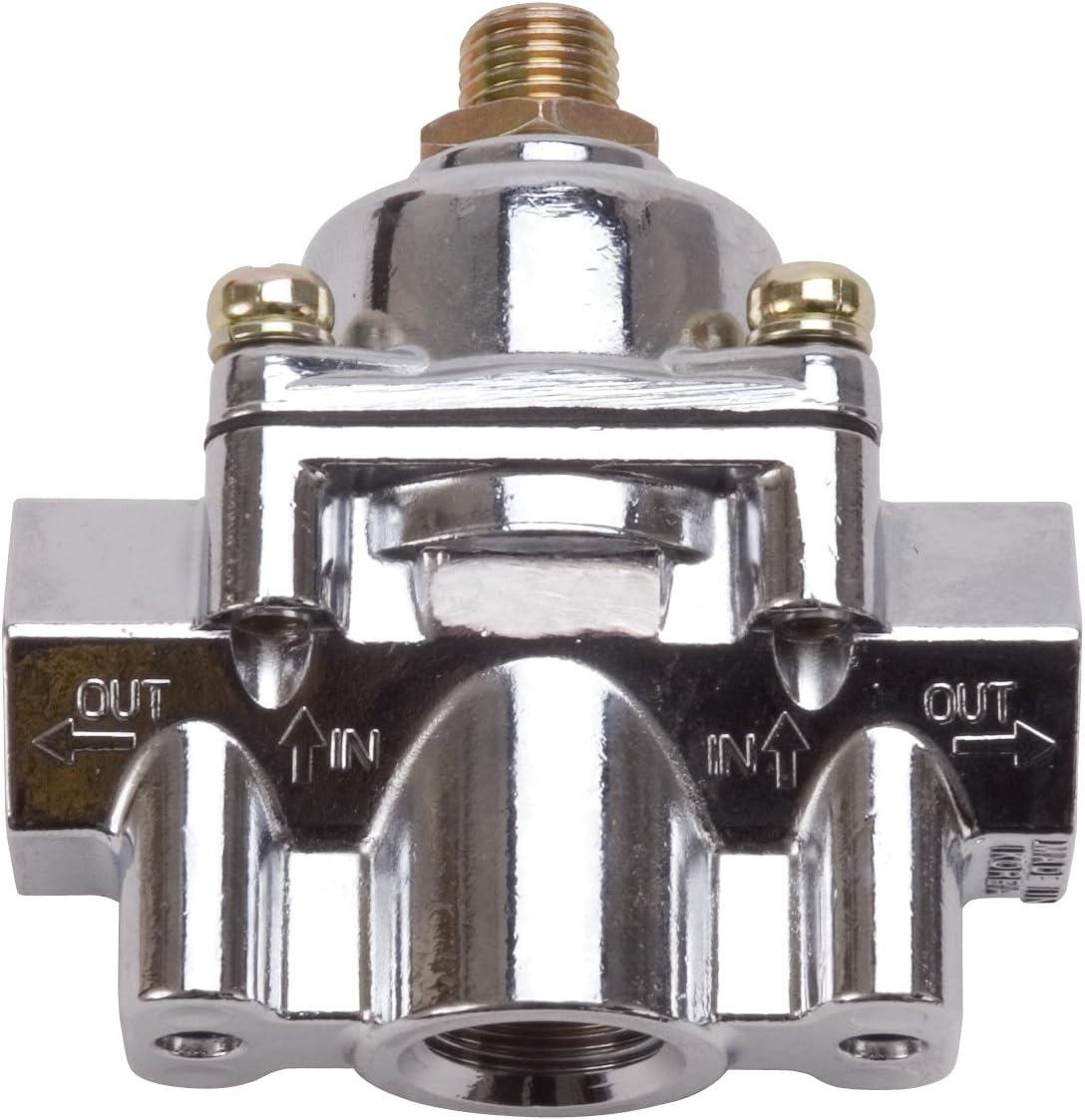 Edelbrock half 1789 1-4 PSI Chrome Pressure Max 54% OFF Fuel Regulator